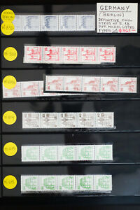 Germany-Berlin-Coil-Strips-Stamp-Lot