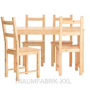 Detalles de Ikea Juego de Comedor Grupo Comedor Esszimmergarnitur Mesa  Silla Pino Macizo