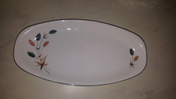 Hostess British Anchor Pottery Riverside Ovale Sandwich Plate 12 3/4 Pollici Vendite Economiche