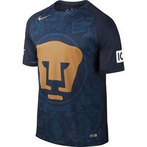 Nike UNAM Pumas Season 2016 - 2017 Away Soccer Jersey New Navy Blue ... ac80d4bc3