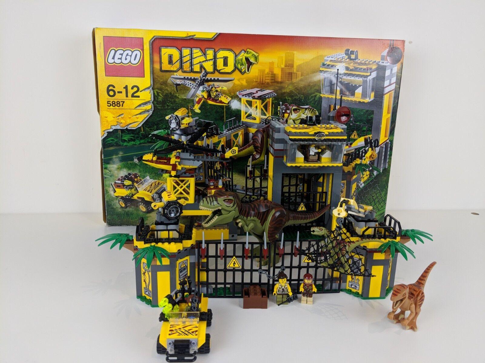 LEGO CITY Dino Dinosauri Set 5887 DINO DIFESA HQ 2012 completa SPEDIZIONE GRATUITA