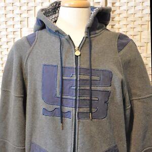 Nike Grey Bolsillos cremallera Lebron Size Heavy con James Warm Hoodie Sudadera Blue Hood M BaxB8rqR