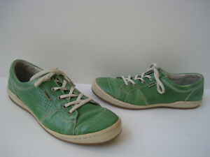 timeless design e3fb9 5fc3a J.SEIBEL CASPIAN GREEN APPLE LEATHER SNEAKERS WOMEN SIZE US ...