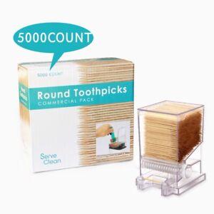 Serve Clean Restaurant Style Toothpick Dispenser Includes 5000 Wood Toothpicks Ebay