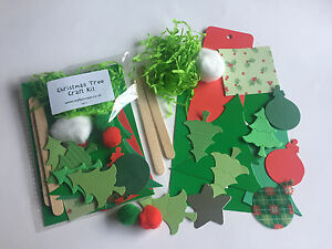 Christmas Tree Fillers.Details About Christmas Tree Craft Kit Stocking Filler Children Xmas Party Bag