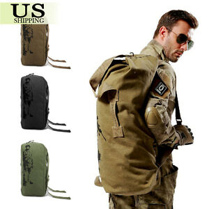 Vintage Camping Hiking Outdoor Military Travel Duffle Backpack ...