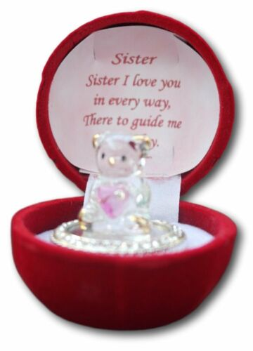 Glass bear in gift box for a special sister that I love
