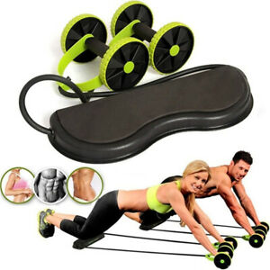 1X-Abdominal-Abs-Roller-Waist-Wheel-Handle-Fitness-Exercise-Workout-Gym-Machine