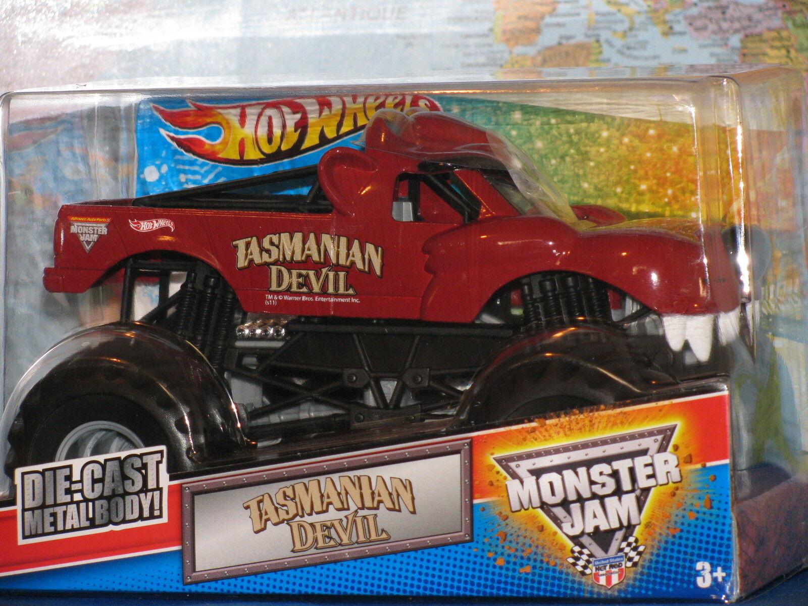 1 24 Hot Wheels Mermelada de Monstruo Demonio de Tasmania Metal Fundido Advance