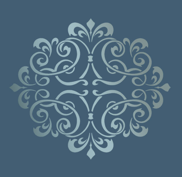 LARGE WALL DAMASK STENCIL PATTERN FAUX MURAL DECOR #1007 Choose Custom Size