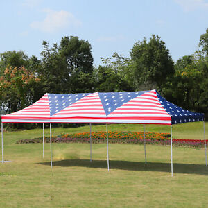 Outsunny-29-039-x-10-039-Pop-Up-Canopy-Wedding-Event-Tent-with-Carrying-Case-Flag