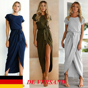 DE-Damen-Spliss-Taille-Riemchen-Casual-Beach-Strandkleid-Sommerkleid-Partykleid