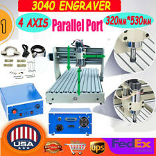 New Listing400w 4 Axis Cnc 3040 Router Engraver Engraving Cutting Milling Drilling Machine