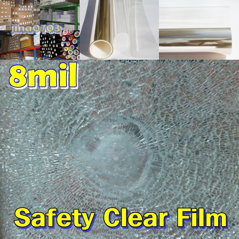 WIDE 20 (50CM) 8mil Safety Clear Film Window Security Residential UV ROLL Long