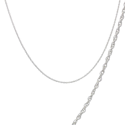 925 Sterling Silver PRINCE OF WALES ROPE Chain Necklace 1mm