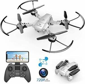 SNAPTAIN A10 Plegable Mini Drone con Cámara HD de 720P, Wi-fi FPV RC Cuadricóptero