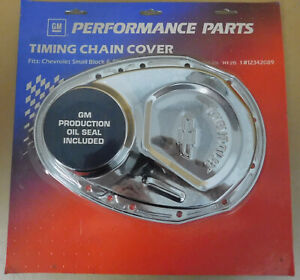 GM-Proform-141-215-Chrome-SBC-Timing-Cover-w-Front-Oil-Seal