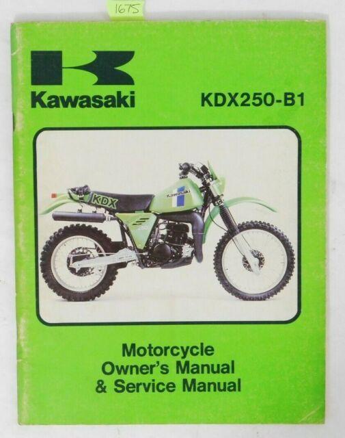 Kawasaki Kdx250 Service Manual Kdx250 B1 Kdx 250 Mp For Sale Online Ebay
