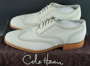 RARE-COLE-HAAN-AIR-COLTON-Oxford-Scarpe-Avorio-WING-TG-UK-9-EU-43-OG-DS-vintage