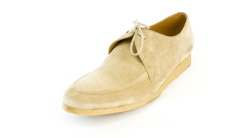J. LINDEBERG Men's Beige Flat Italian Suede Loafers NEW
