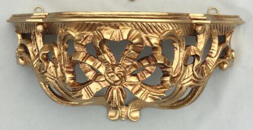 Wandkonsole//Spiegelkonsolen//Wandregal BAROCK ANTIK Gold B:31xT:15x H:15 cm cp73