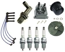 Tune Up Kit 1 Gas Filter 1 Cap 1 Rotor 4 Spark Plugs and Wires For: Honda Civic