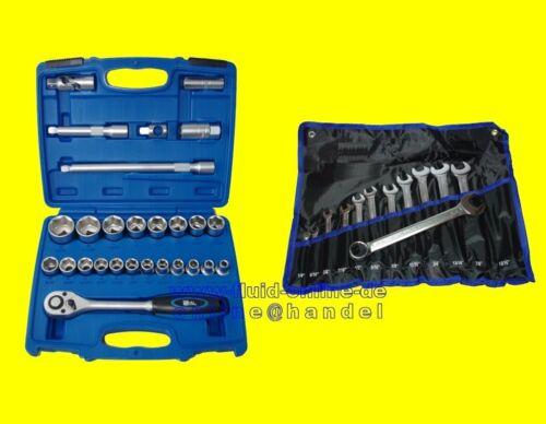 PAKET ZOLL BGS 2216 Werkzeug Knarrenkasten 27tlg 1195 RingMaulschlüssel 12tlg