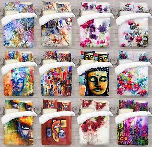 UK-Made-3D-Pintura-Abstracta-Foto-Impresion-Digital-cubierta-del-edredon-edredon-con-fundas-de