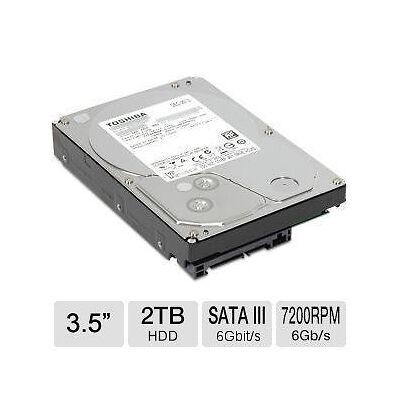 """Toshiba 2TB 3.5"""" 7200RPM SATA Desktop Hard Drive ( DT01ACA200 ) SSD"""