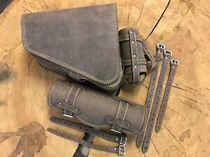 completer-Sacoches-de-selle-moto-SPORTSTER-1200-883-role-Sac-role-de-lien-cuir