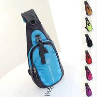 New Mens Outdoor Backpack Waterproof Women Shoulder Bag Messenger Sports Running
