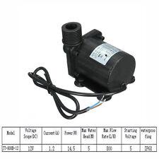 IP68 DC12V 5M 800L/H Ultra Quiet Brushless Motor Tauchfähig Wasserpumpe Pumpen