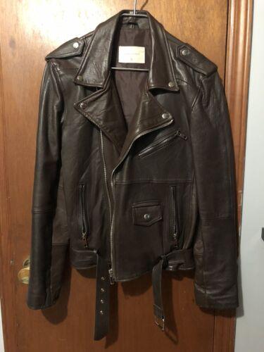 Deadwood Classic Biker Motorcycle Leather Jacket