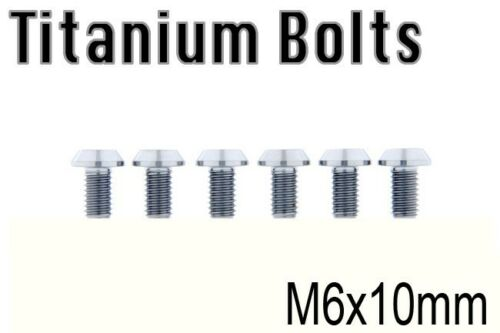 x6 Titanium Bolt Ti M6x10mm M6x10L Taper Torx T30 Screw M6 10 Bicycle Bike