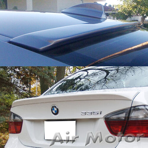 COMBO Unpainted BMW 3-Series E90 A Roof /& OEM Rear Trunk Wing Spoiler 330i 335