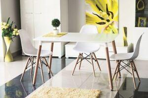 holztisch tisch esstisch esszimmertisch k chentisch 120x80 matt weiss ebay. Black Bedroom Furniture Sets. Home Design Ideas
