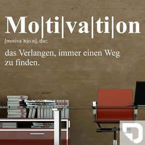 Wandtattoo Motivation Definition Wandtattoo Spruch Furs Buro Von