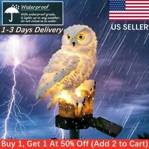 1pc Solar Power LED Owl Lawn Light Outdoor Waterproof Garden Landscape Lamp