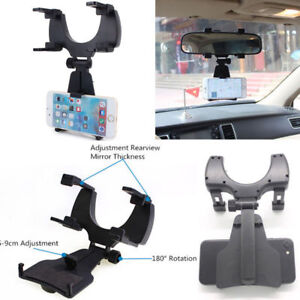 Universal Car  Rear View Mirror GPS Phone Holder Mount Cell Phone Stand Bracket