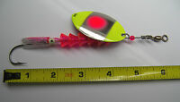 Salmon Spinner Lure Tee Trout Steel Head Mustad 3/0 Stainless Hd Pro Series