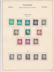 germany 1954-55 democratic republic stamps page  ref 18745