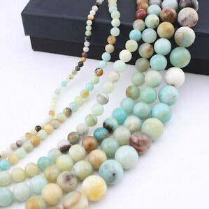 15-034-Multi-color-Amazonite-Gemstone-Round-Loose-Beads-Jewelry-Finding-4-6-8-10mm