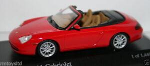 MINICHAMPS-1-43-SCALE-400-061034-PORSCHE-911-CABRIOLET-2001-RED