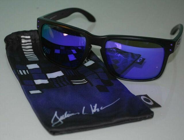Oakley Holbrook Julian Wilson Sunglasses OO9102-26 Matte Black/Violet Iridium