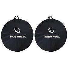 2x1PCS ROSWHEEL Bike Travel Wheel Bag Cycle Bicycle Box Case Luggage Black