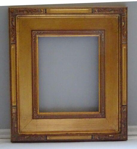 Fleur handmade wood Art//Picture Frame Gold Leaf,Etched corners Southwestern 8x10