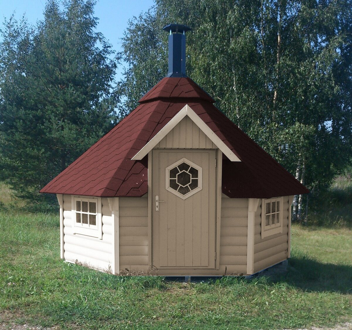 grillkota inkl grillanlage pavillon gartenhaus grillh tte. Black Bedroom Furniture Sets. Home Design Ideas
