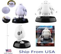 Big Hero 6 Baymax Figure Solar Powered Dancing Movable Toy 4 Car Decoration