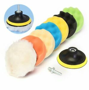 Drillpro-8Pcs-6-Inch-Sponge-and-Woolen-Polishing-Buffing-Pad-Kit-For-Car