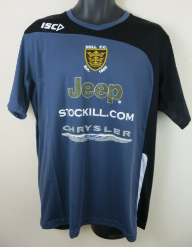 ISC Hull FC Rugby League Training Top T-Shirt Jersey Mens Adult Large L XXL 2XL